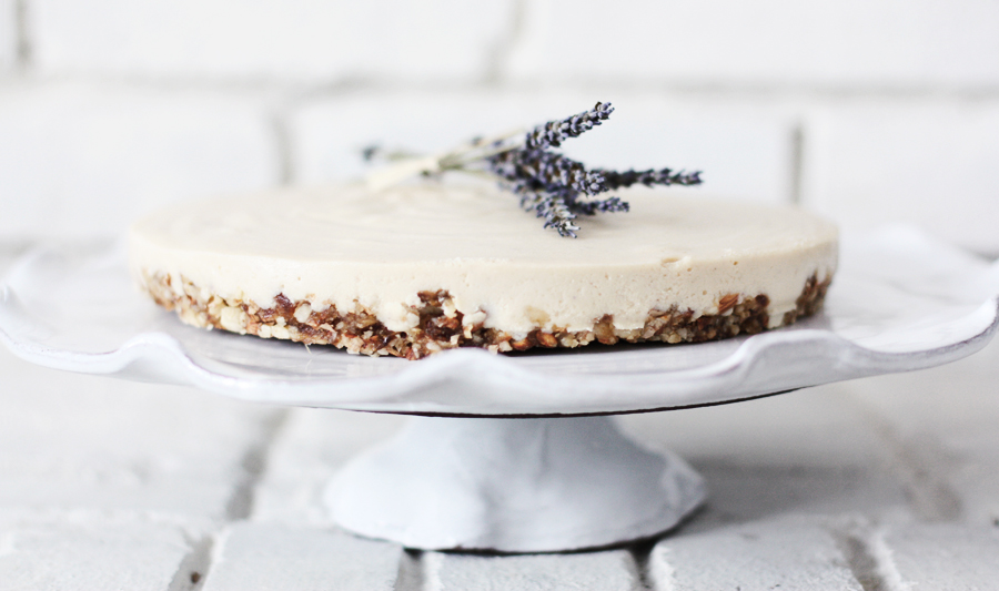 "Lavender & Honey Raw ""Cheese"" Cake"